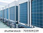 row of industrial air... | Shutterstock . vector #705509239