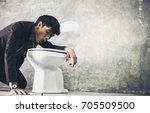 drunk guy | Shutterstock . vector #705509500