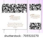 romantic invitation. wedding ... | Shutterstock .eps vector #705523270