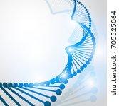 dna molecule structure... | Shutterstock .eps vector #705525064