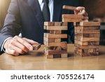 alternative risk concept  plan...   Shutterstock . vector #705526174