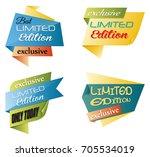 vector illustration of set of... | Shutterstock .eps vector #705534019
