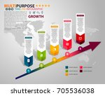 infographic timeline template... | Shutterstock .eps vector #705536038