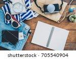 clothing traveler's passport ... | Shutterstock . vector #705540904