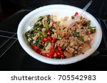 rice curry with thai people.... | Shutterstock . vector #705542983