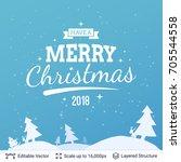 christmas background design.... | Shutterstock .eps vector #705544558