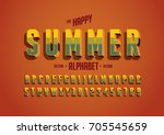 vector of stylized vintage font ... | Shutterstock .eps vector #705545659