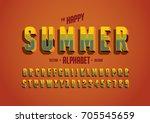 vector of stylized vintage font ...   Shutterstock .eps vector #705545659