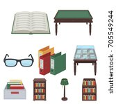 a set of icons with books. seth ... | Shutterstock .eps vector #705549244