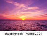 bright horizon night is coming  | Shutterstock . vector #705552724