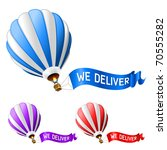 Hot Air Balloon Delivery Icon