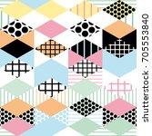 geometric elements memphis... | Shutterstock .eps vector #705553840