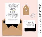 wedding invitation card... | Shutterstock .eps vector #705562150