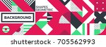 simple banner of decorative... | Shutterstock .eps vector #705562993