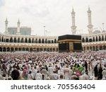 mecca  saudi arabia.   nov 7... | Shutterstock . vector #705563404