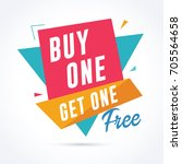 buy one get one free banner.... | Shutterstock .eps vector #705564658