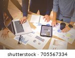 start up business team worker... | Shutterstock . vector #705567334