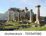 ruins of appollo temple in... | Shutterstock . vector #705569380