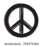 grunge peace sign.vector dirty... | Shutterstock .eps vector #705571564