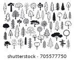 doodle park forest conifer... | Shutterstock .eps vector #705577750