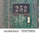 vintage grunge metal rusty... | Shutterstock . vector #705579820