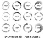 lines in circle form . spiral... | Shutterstock .eps vector #705580858
