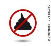 no shit icon. vector... | Shutterstock .eps vector #705581350