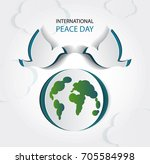 international day of peace ... | Shutterstock .eps vector #705584998