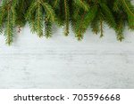 christmas background on white... | Shutterstock . vector #705596668