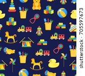 child toys color background... | Shutterstock .eps vector #705597673
