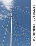 mast of a sailboat | Shutterstock . vector #705602269