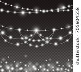lights string bulbs isolated on ... | Shutterstock .eps vector #705604558
