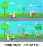 old people in park vector... | Shutterstock .eps vector #705605140