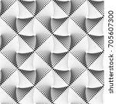 geometric seamless op art ... | Shutterstock .eps vector #705607300