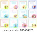 happy grandparents day posters... | Shutterstock .eps vector #705608620