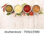 various of sauces | Shutterstock . vector #705615580