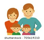 family illustration ... | Shutterstock . vector #705619210