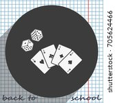 playing cards with dices icon. | Shutterstock .eps vector #705624466