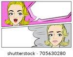 pop of cartoon woman with... | Shutterstock . vector #705630280