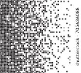 fading pixel pattern. black and ...   Shutterstock .eps vector #705636088