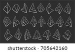 set of 3d geometric shapes... | Shutterstock .eps vector #705642160