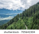 the mountains of alps in tyrol  ... | Shutterstock . vector #705642304