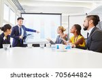 consultant in business workshop ... | Shutterstock . vector #705644824