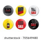 set of black friday sale badges.... | Shutterstock .eps vector #705649480