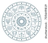 Astrology Horoscope Circle Wit...