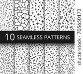 funky memphis seamless vector... | Shutterstock .eps vector #705650173