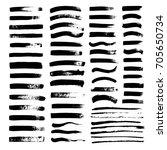 vector black paint  ink brush... | Shutterstock .eps vector #705650734