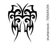 tribal tattoo art designs.... | Shutterstock .eps vector #705654154
