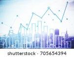 abstract light city background... | Shutterstock . vector #705654394