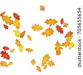 oak leaf abstract background... | Shutterstock .eps vector #705655654